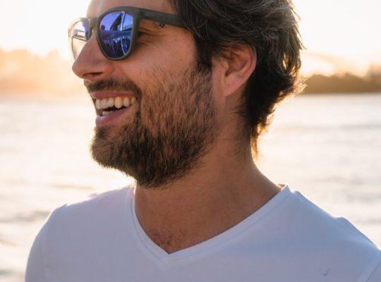 happy man feeling good depression free